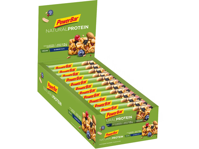 PowerBar Natural Protein Bar Caja 24x40g, Blueberry Nuts (Vegan)
